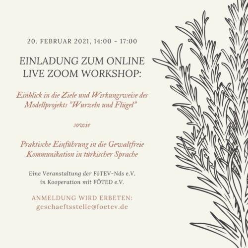 Einladung zum Online Zoom Webshop